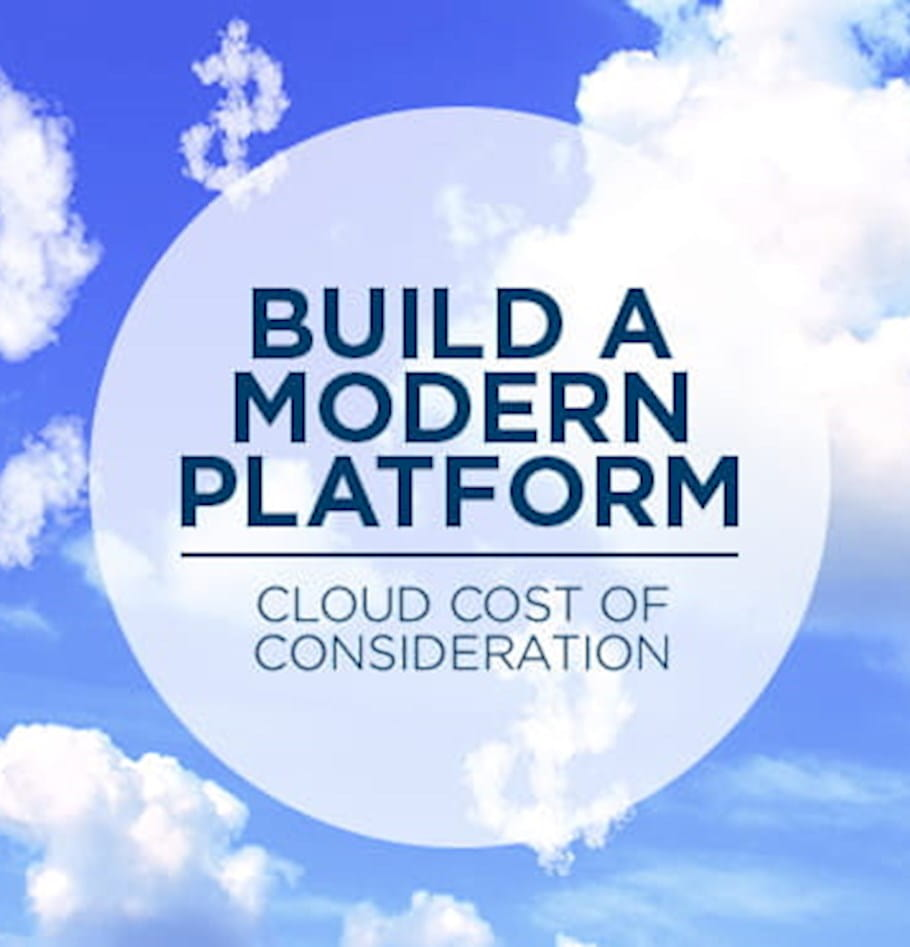 Cloud cost considerations