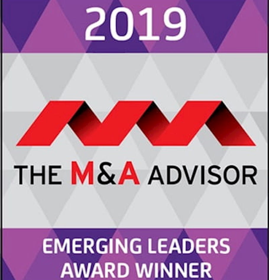 Claire O'Neill and Andy Johnson from West Monroe recognized as winners of the M&A Advisor's 10th annual Emerging Leaders Awards