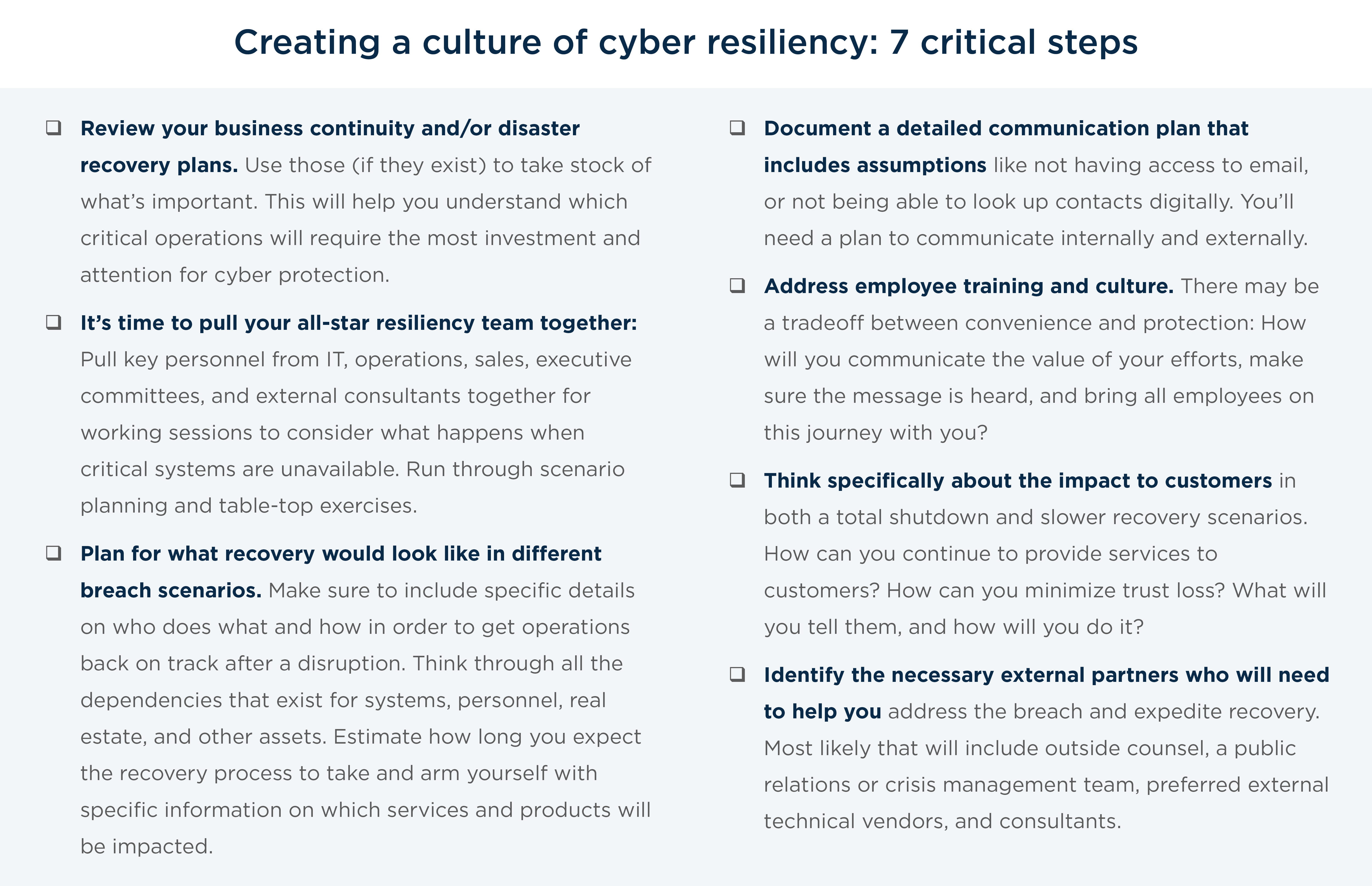 creating a culture of cyber resiliiency
