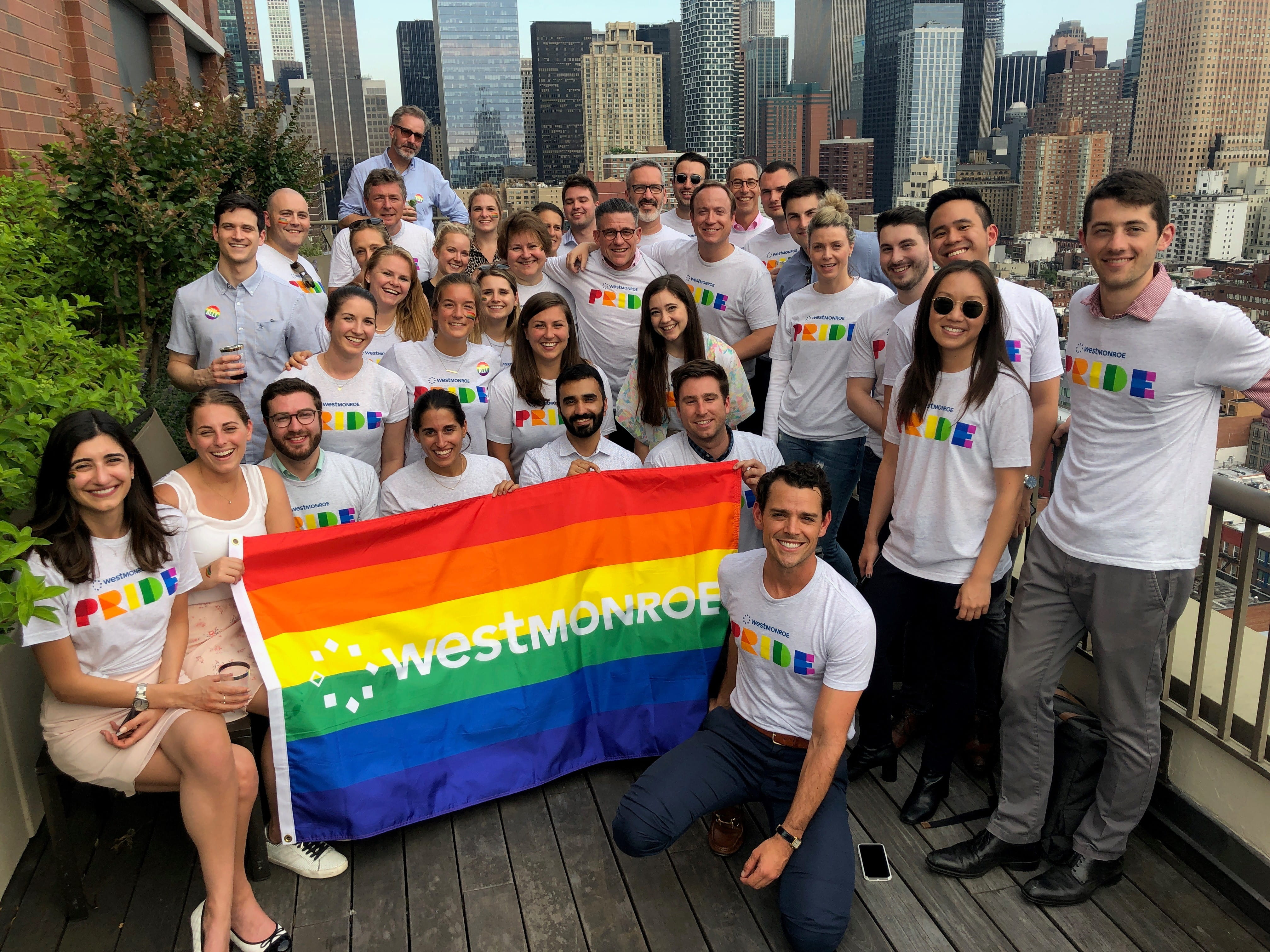 Our New York office celebrating World Pride